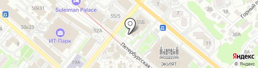 Платная парковка на карте Казани