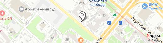 Денс на карте Казани