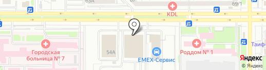 Контрол лизинг на карте Казани