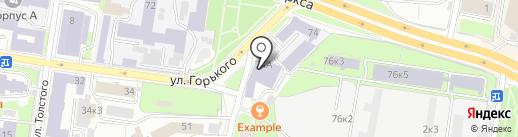 Казанский (Приволжский) федеральный университет на карте Казани