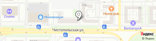 Мув хостел на карте Казани