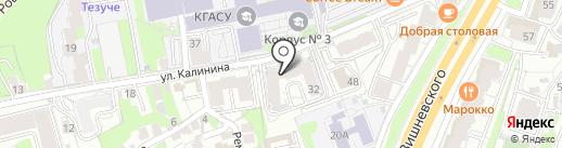 Kalinina House на карте Казани