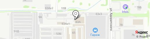 Уоллбит на карте Казани