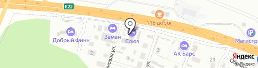 Союз на карте Казани