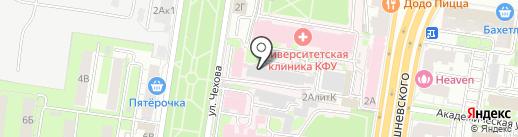 Справочная служба о работе скорой помощи на карте Казани