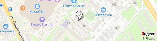 Легкие легкие на карте Казани