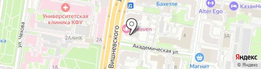 Кварт на карте Казани