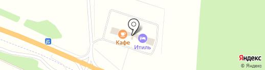 Итиль на карте Переволок