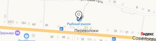 Рыбный рынок на карте Переволок