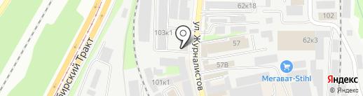 Шахтинская плитка на карте Казани