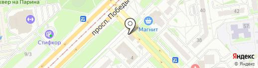 Делис на карте Казани
