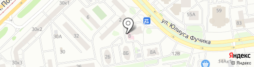 Гармошка на карте Казани