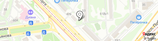 Ателье на Зорге на карте Казани