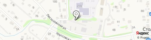 Столбищенское участковое лесничество на карте Столбища
