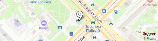 Жучок на карте Казани