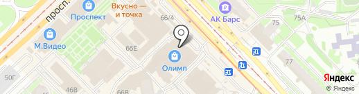 Ивановский на карте Казани