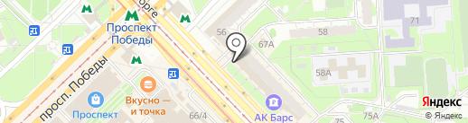Клумба на карте Казани