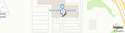 Челны-бройлер на карте Казани