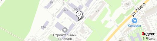 Казанский строительный колледж на карте Казани