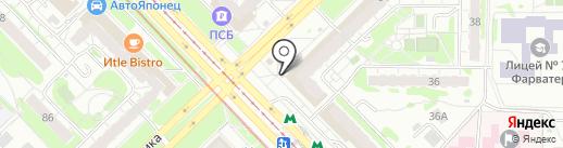 Киоск по продаже хлебобулочных изделий на карте Казани