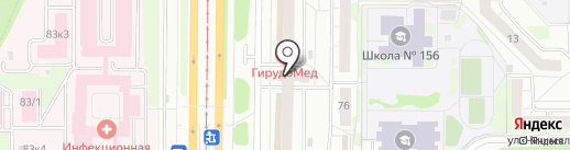 Альфа на карте Казани