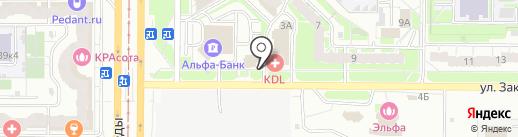 Крона на карте Казани