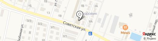 Автомойка на Советской на карте Приморского