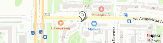 Магазин хлебобулочной и молочной продукции на карте Казани