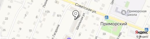 Участковый пункт полиции на карте Приморского