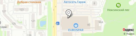Туземец на карте Казани
