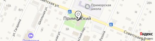 Библиотека на карте Приморского