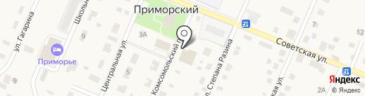 Колос на карте Приморского