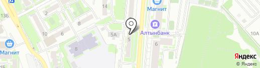 Кокетка на карте Казани