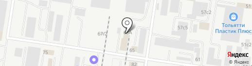 Полимет на карте Тольятти