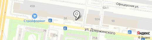 Теплый свет на карте Тольятти