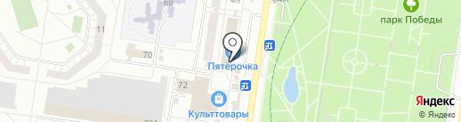 Киоск по продаже фруктов и овощей на карте Тольятти