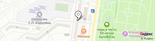 Holiday House на карте Тольятти