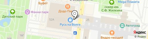 Налоговый вектор на карте Тольятти