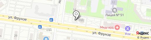 Вымпел ОСБ на карте Тольятти