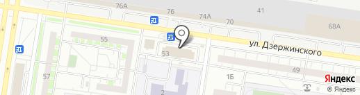 Лебедь белая на карте Тольятти