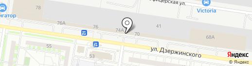 Красные фонари на карте Тольятти