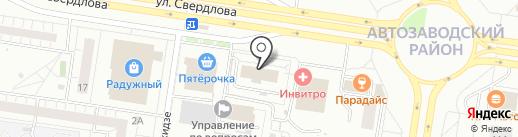 Мелодия Окон на карте Тольятти