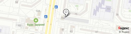 Глобус на карте Тольятти