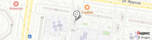 Гилас на карте Тольятти