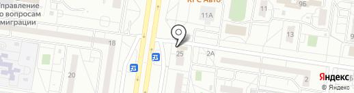 Пеликан на карте Тольятти