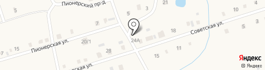 Продуктовый магазин на Советской на карте Выселков