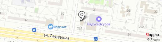 Гранит на карте Тольятти