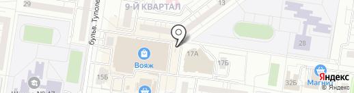 Ночная автостоянка на карте Тольятти