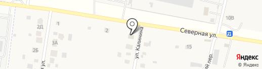 Магазин продуктов на ул. Калинина на карте Русской Борковки