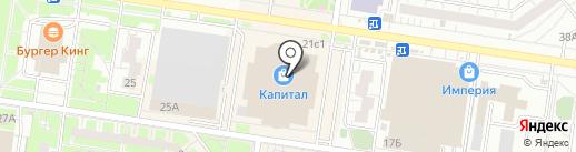 Скалодром на карте Тольятти